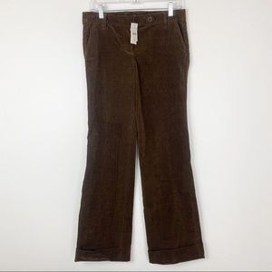 J Crew City Fit Brown Cuffed Corduroy Jeans Size 2